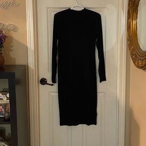 H&M long sleeved black dress